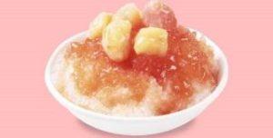 かき氷 白桃