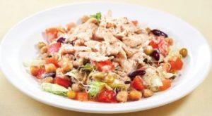 サラダチキンと3種豆のサラダ 胡麻ドレッシングL