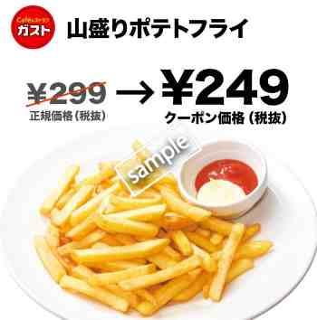山盛りフライドポテト249円(グノシー)