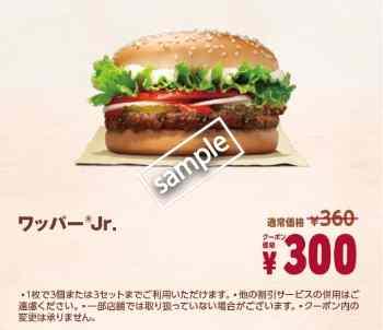 ワッパーjr単品300円
