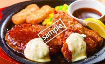 ハンバーグチキン南蛮599円(LINE)