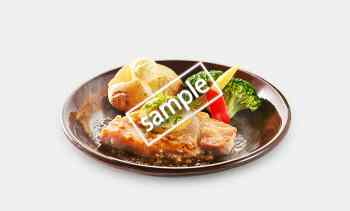 四元豚シルキーポークのグリル レモンバター醤油ソース 1049円(LINE)