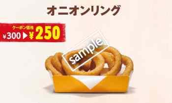 オニオンリング単品 250円