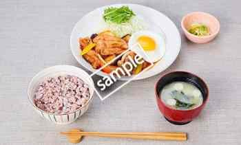 野菜ポークケチャップ定食 20円引き