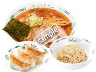 中華そば+半チャーハン+3個餃子 690円(YAHOO)