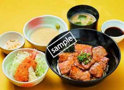 帯広風豚丼と蟹爪クリームコロッケの和膳 949円