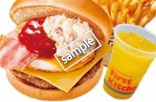 チーズベーコンエッグバーガーセット