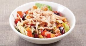 サラダチキンと3種豆のサラダ 胡麻ドレッシングS
