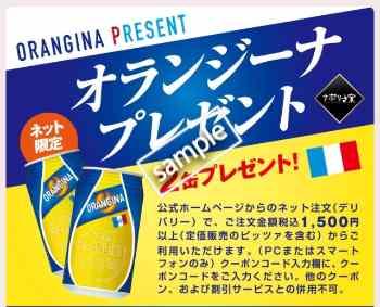 オランジーナ2缶 プレゼント(メルマガ)