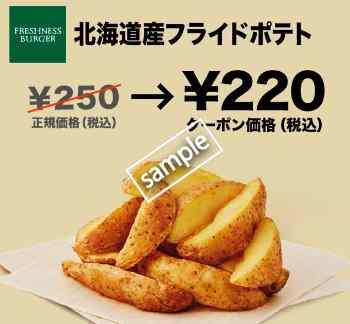 フライドポテトRサイズ220円(グノシー)