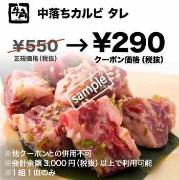 中落ちカルビ タレ味 290円(グノシー)