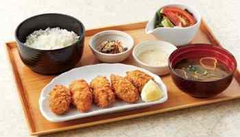 広島産牡蠣フライ膳 940円