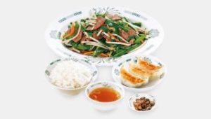 ニラレバ炒め定食+餃子3個