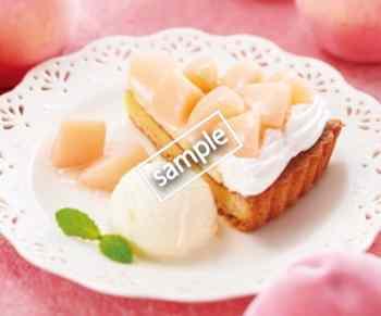 白桃のタルト 430円