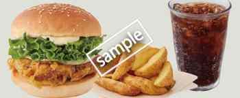 塩レモンチキンバーガー+ポテトセット 710円