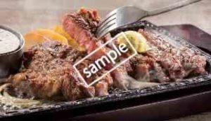 熟成赤身ロースステーキ225g サラダバー食べ放題付き