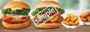 ペアセット クラシックチーズバーガー+塩レモンチキンバーガー+ポテトL+ナゲット