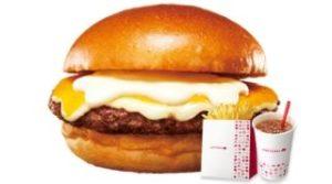 チーズチーズチーズのごちそうワイド絶品チーズバーガー ふるポテ ドリンクM