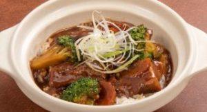 牛肉煮込みの広東土鍋ごはん
