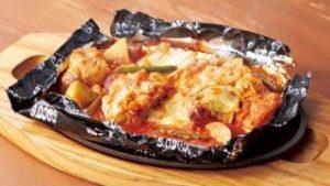 チーズタッカルビの包み焼きハンバーグ