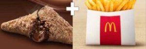 三角チョコパイ黒+ポテトS