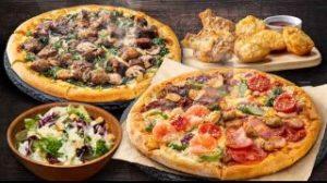 1〜4ハッピーレンジMピザ2枚+サイドメニュー2品