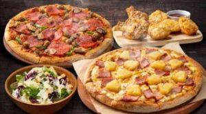 1・2ハッピーレンジMピザ2枚+サイドメニュー2品