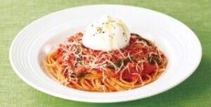 丸ごとブラータのトマトソーススパゲッティ