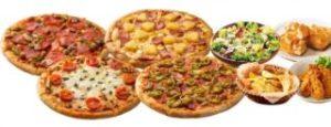 1〜2ハッピーレンジMピザ4枚+サイドメニュー4品