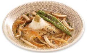豆富とひじきのハンバーグたっぷり野菜あん仕立て