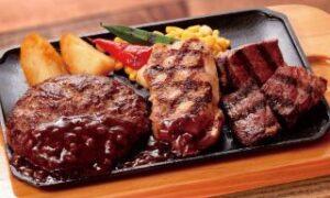 黒毛和牛ハンバーグのトリプルグリル単品