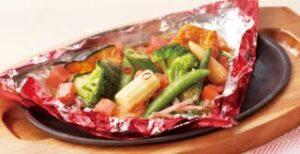 ごろごろ野菜の包み焼き