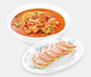 チゲ味噌ラーメン+バジル餃子6個