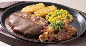 ハンバーグ&牛カルビ焼き