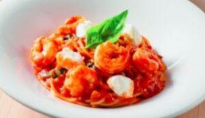 海老とモッツァレラのトマトスパゲッティ