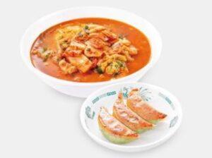 チゲ味噌ラーメン+バジル餃子3個