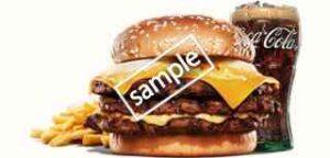 チーズ&チーズ ビッグマウスバーガー+ポテトM+ドリンクM