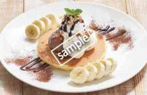 ビターチョコ&バナナのパンケーキ