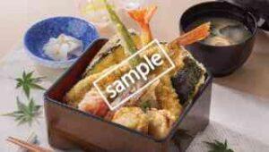金がしらと夏野菜の三陸天重(お味噌汁 お新香付き)