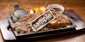 単品 ワイルドカットステーキ約150g&ハンバーグ1枚