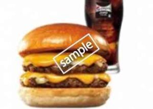 ダブル絶品チーズバーガー+ペプシゼロM