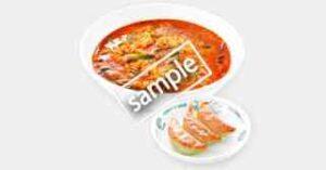 大宮担々麺+バジル餃子3個