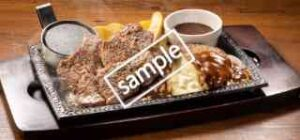 単品 ワイルドカットステーキ約150g&ビーフチーズINハンバーグ