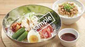 本格・盛岡冷麺 すっきり白スープ+鶏そぼろご飯