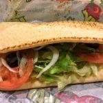 ピザ風サンドイッチ(BLTバジル)
