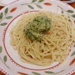 野菜ソースのペペロンチーノ