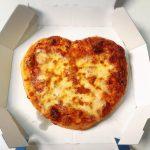 ハート型ピザ