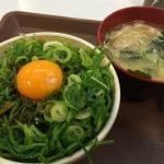 裏技ねぎ玉牛丼+みそ汁セット(20円お得)