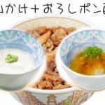 山かけおろしポン酢牛丼